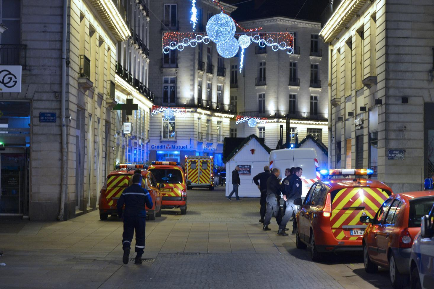 Ten injured in van attack on French Christmas market