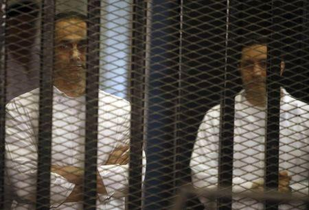 Mubarak's sons released from Egypt prison: prison officials