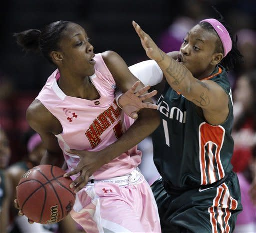 No. 6 Miami women hold off No. 8 Maryland 76-74