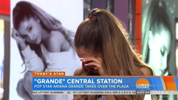Ariana Grande Flustered by Relationship Question