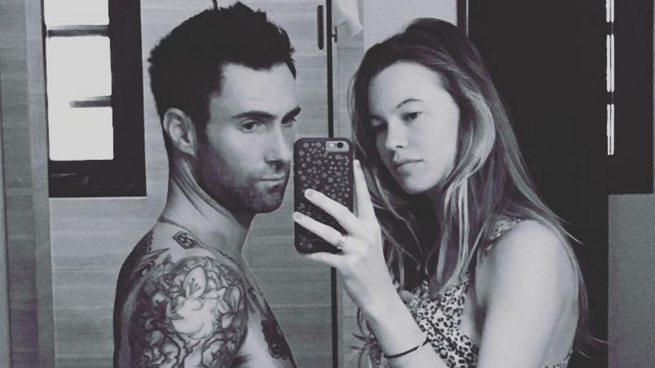 Adam Levine Snaps Sweet Pic With Wife Behati Prinsloo, Jokes He's 'Pregnant Too': 'I'm Finally Popping'