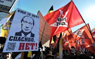 &lt;p&gt;Russian protesters take part in anti-Putin rally in the Arbat district of Moscow on March 10. More than 100,000 protesters on Tuesday joined a march against President Vladimir Putin in Moscow, organiser and radical left-wing activist Sergei Udaltsov has told AFP.&lt;/p&gt;