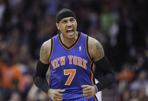 Anthony leads Knicks in last visit to New Jersey