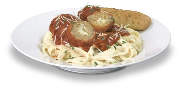 Applebee's Provalone-Stuffed Meatballs with Fettuccine
