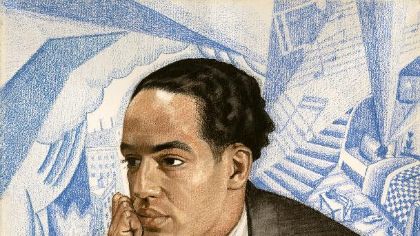 "This handout image provided by the National Portrait Gallery is a pastel on illustration board showing Langston Hughes, Winold Reiss. America often knows the names but not the faces of its great poets. Now the Smithsonian's National Portrait Gallery is introducing dozens of 20th century poets to Washington visitors. ""Poetic Likeness: Modern American Poets"" opens Friday and will be on view through April. (AP Photo/National Portrait Gallery)"