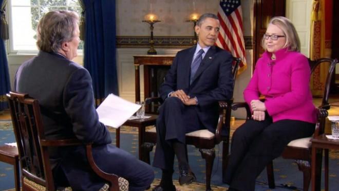 President Obama and Secretary of State Hillary Clinton speak with 60 Minutes correspondent Steve Kroft.