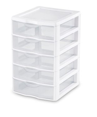 3. 5 Drawer Plastic Unit 