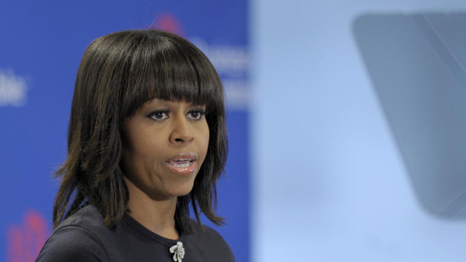 Michelle Obama urges CEOs to hire more veterans