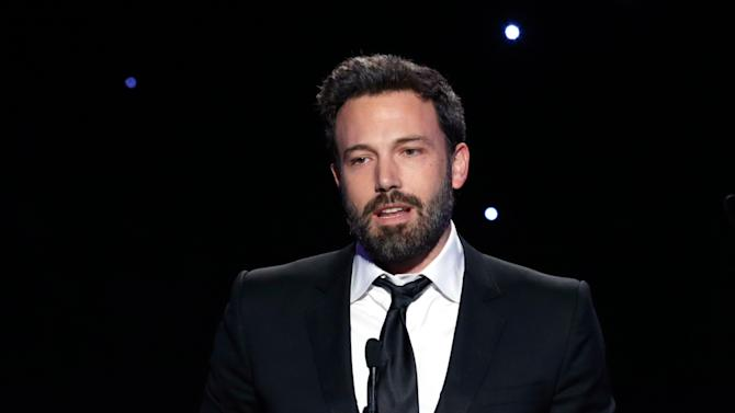 Ben Affleck accepts the Zanuck award for outstanding producer of theatrical motion pictures at the 24th Annual Producers Guild (PGA) Awards at the Beverly Hilton Hotel on Saturday Jan. 26, 2013, in Beverly Hills, Calif. (Photo by Todd Williamson/Invision for The Producers Guild/AP Images)