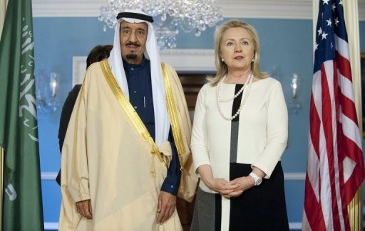 &lt;p&gt;US Secretary of State Hillary Clinton and Saudi Arabian Defence Minister Prince Salman in Washington on April 12. Saudi Arabia was preparing on Sunday to bury crown prince Nayef bin Abdul Aziz amid worldwide condolences, as Prince Salman appeared poised to become the new heir apparent.&lt;/p&gt;