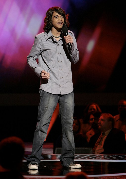 Sanjaya Malakar performs in front of the judges on 6th season of American Idol.