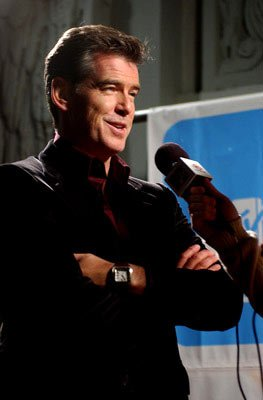 Pierce Brosnan at the Hollywood premiere of New Line Cinema's After the Sunset