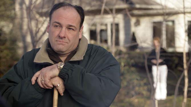 """FILE - This file photo released by HBO in 2007 shows James Gandolfini as Tony Soprano in a scene from one of the last episodes of the HBO dramatic series """"The Sopranos."""" HBO and the managers for Gandolfini say the actor died Wednesday, June 19, 2013, in Italy. He was 51. (AP Photo/HBO, Craig Blankenhorn, File)"""