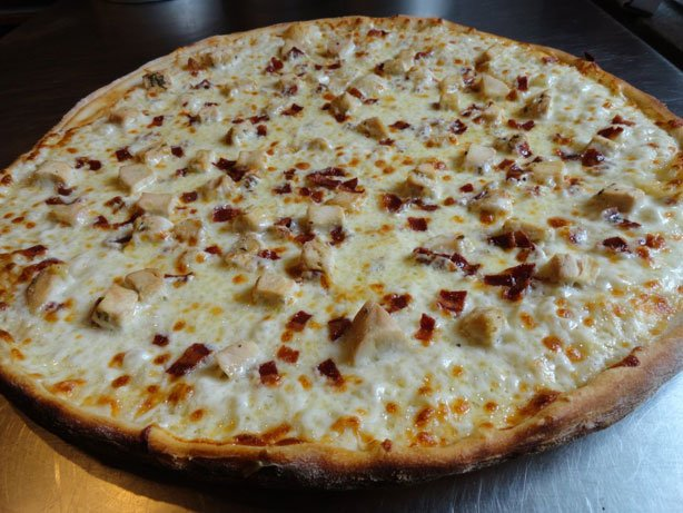 The BBQ Chicken Pizza at Via Via Pizza