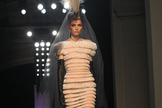 Andrej Pejic in Gaultier (Quelle: Getty Images)