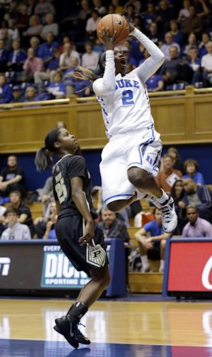 Jones leads No. 2 Duke women past No. 16 Purdue