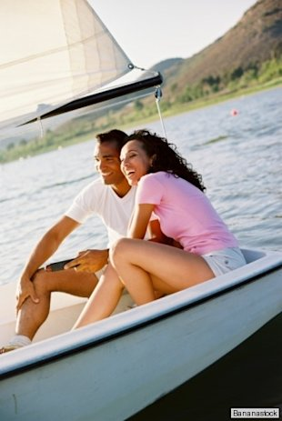 couple in a sailboat