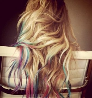 Lauren Conrad got rainbow tips and started a hair dying craze. Photo courtesy of LaurenConrad+KristinEss/tumblr.com