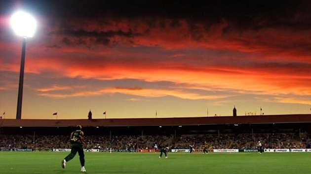 A cricket match in Adelaide played under floodlights (Reuters)