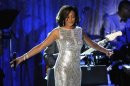 File photo of Whitney Houston performing at the Pre-Grammy Gala &amp; Salute to Industry Icons with Clive Davis in Beverly Hills