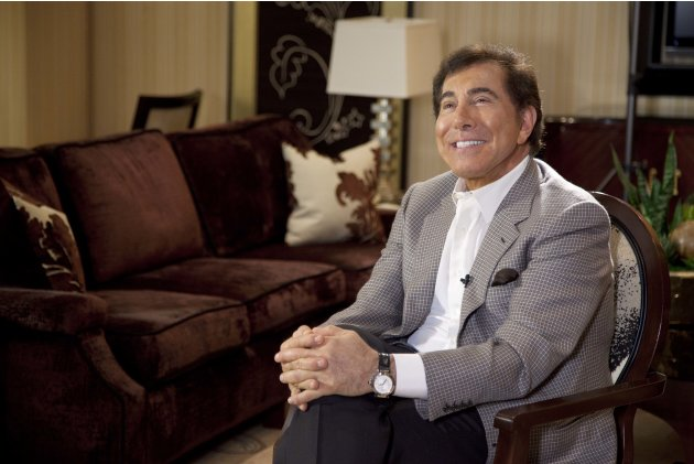 FILE - In this April 27, 2011 file photo, Steve Wynn is interviewed in Las Vegas. Wynn was revealed as the Las Vegas casino owner who donated an anonymous gift of $500 each to 4,000 southern Nevada fa