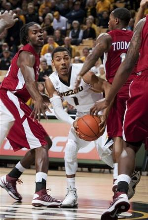 No. 12 Missouri beats South Carolina State 102-51