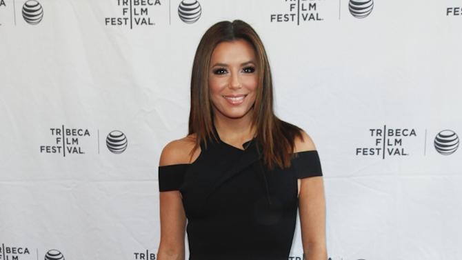 "Eva Longoria attends the Tribeca Film Festival ""Tribeca Talks: ESPN Sports Film Festival"" at the SVA Theatre on Saturday, April 25, 2015, in New York. (Photo by Andy Kropa/Invision/AP)"