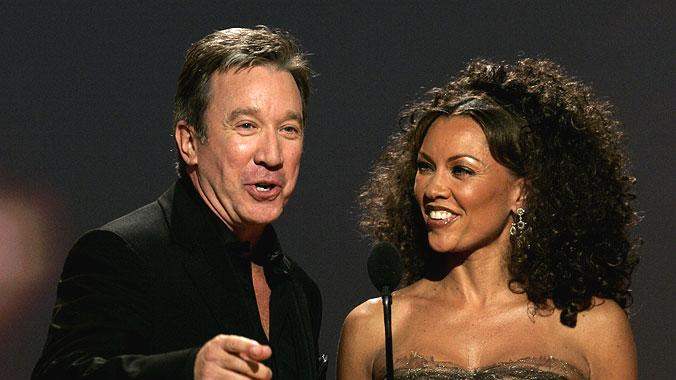 Tim Allen and Vanessa Williams at the 64th annual Golden Globe Awards.