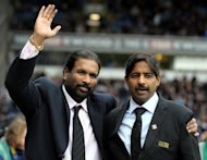 Balaji Rao and Venkatesh Rao (R), owners of Blackburn Rovers and Venky's, at an English Premier League match in 2010. Blackburn Rovers' unpopular Indian owners have turned to TV pundit Shebby Singh in a bid to reverse the fortunes of the relegated English football club, reports said Thursday