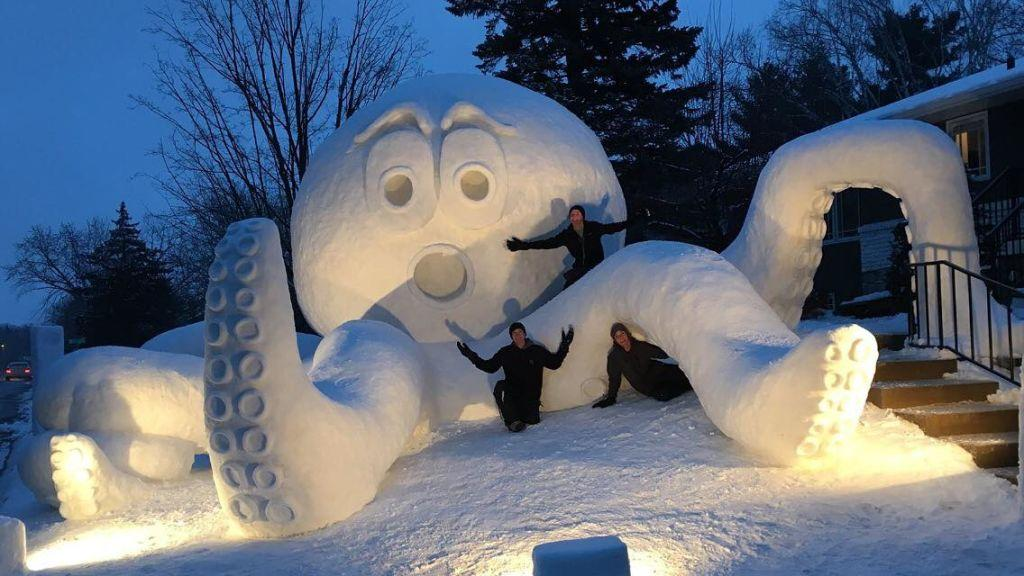 These Minnesota Brothers Created the Most Epic Snow Sculpture