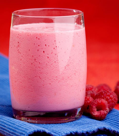 Spiced Raspberry Cottage Cheese Smoothie