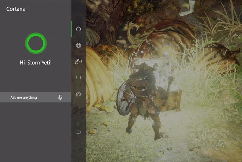 Cortana appears on Xbox One preview a little early