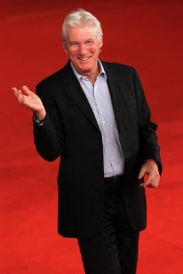 Richard Gere walks the red carpet during the 6th International Rome Film Festival in Rome, Italy, on November 3, 2011 -- Getty Premium
