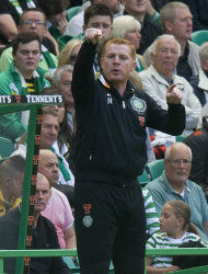 Neil Lennon, pictured, has signed Lassad Nouioui from Deportivo La Coruna