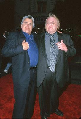 Premiere: Jay Leno and Louie Anderson at the Mann's Chinese Theater premiere of Warner Brothers' Battlefield Earth - 5/10/2000