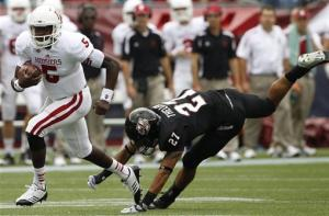 Roberson runs for 2 TDs; Indiana tops UMass 45-6