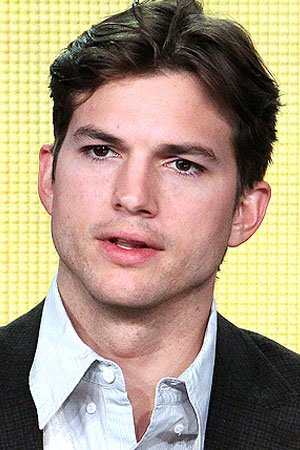 Ashton Kutcher, 33, has a new look after shaving his beard, moustache, ...