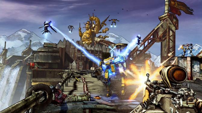 """This video game image released by 2K Games shows a scene from """"Borderlands 2."""" (AP Photo/2K Games)"""