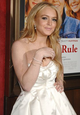 Lindsay Lohan at the New York premiere of Universal Pictures' Georgia Rule