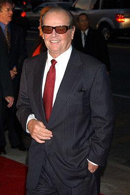 Jack Nicholson at the Los Angeles premiere of Warner Bros. Pictures' The Bucket List