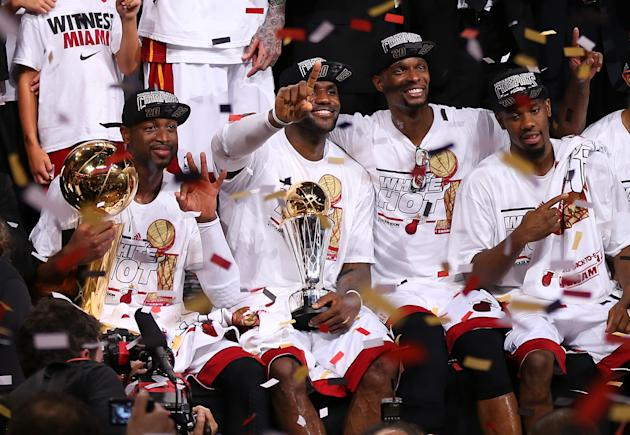 LeBron leads Heat to second straight title