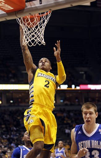 No. 15 Marquette rallies to beat Seton Hall 66-59