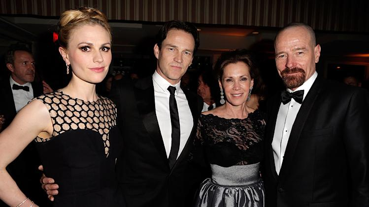 2013 Vanity Fair Oscar Party Hosted By Graydon Carter - Inside: Anna Paquin, Stephen Moyer, Robin Dearden and Bryan Cranston