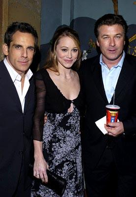 Premiere: Ben Stiller, Christine Taylor and Alec Baldwin at the LA premiere of Universal's Along Came Polly - 1/12/2004