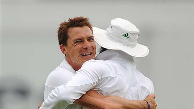 Dale Steyn, left, was amongst the wickets as South Africa moved towards an almost certain victory