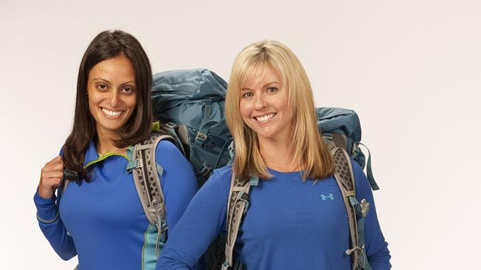"Federal Agents Nary Ebeid and Jamie Graetz compete in the 20th season of ""The Amazing Race."""
