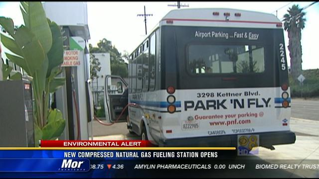 New compressed natural gas fueling station opens