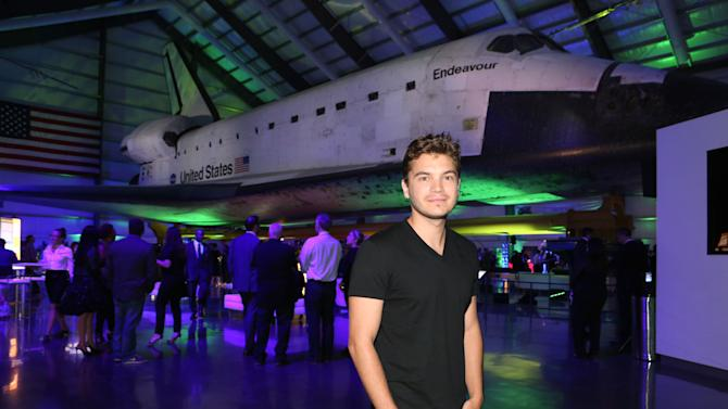 "Emile Hirsch celebrates the worldwide blockbuster ""Star Trek Into Darkness"" home entertainment debut at an exclusive launch party beneath the wings of the historic Space Shuttle ""Endeavour"" on Tuesday, Sept, 10, 2013 at the California Science Center in Los Angeles. Photo by Casey Rodgers/Invision for Paramount Pictures/AP Images)"