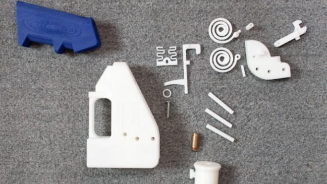 The pieces of this plastic gun took only four hours to print.