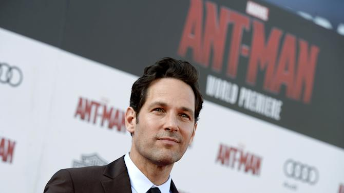 "Cast member Paul Rudd poses during premiere of Marvel's ""Ant-Man"" in Hollywood"